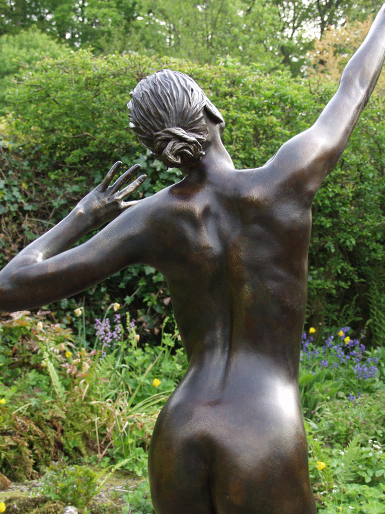 Life-cast nude Statue female Bronze finish, Garden Statues