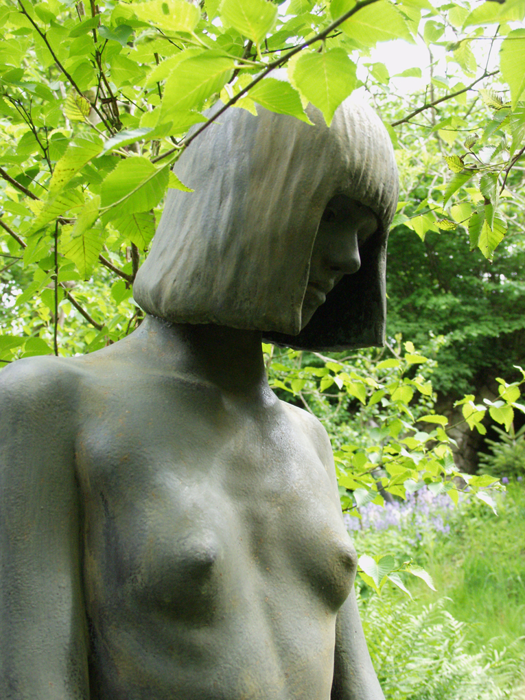 Nude young girl Statue detail